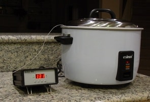 sous vide temperature controller with rice cooker